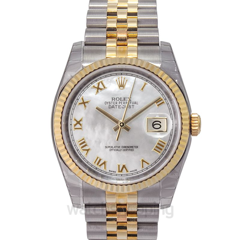 Rolex Datejust 36 Rolesor Yellow Fluted / Jubilee / MOP Roman