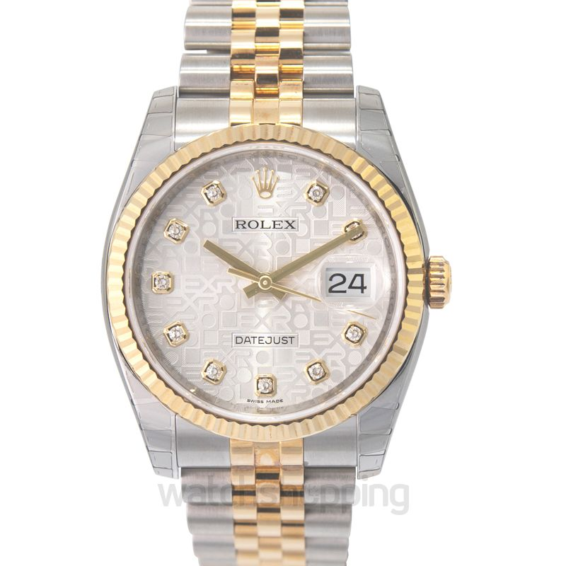 Rolex Datejust 36 Rolesor Yellow Fluted / Jubilee / Silver Computer