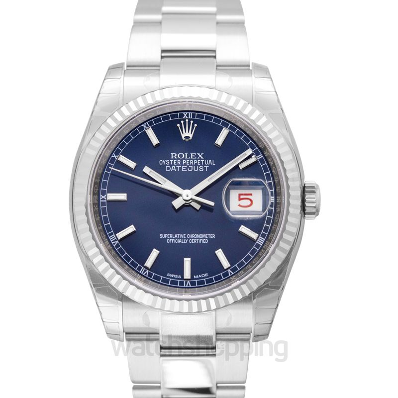 Rolex Datejust 36 Stainless Steel Fluted / Oyster / Blue