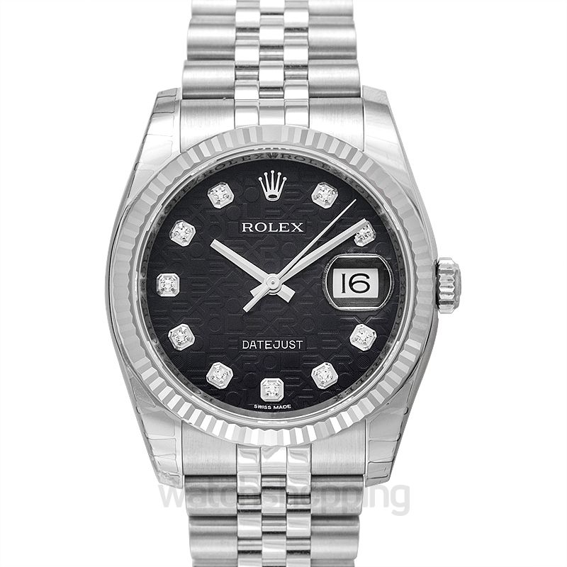 Rolex Datejust Automatic Black Dial Men's Watch