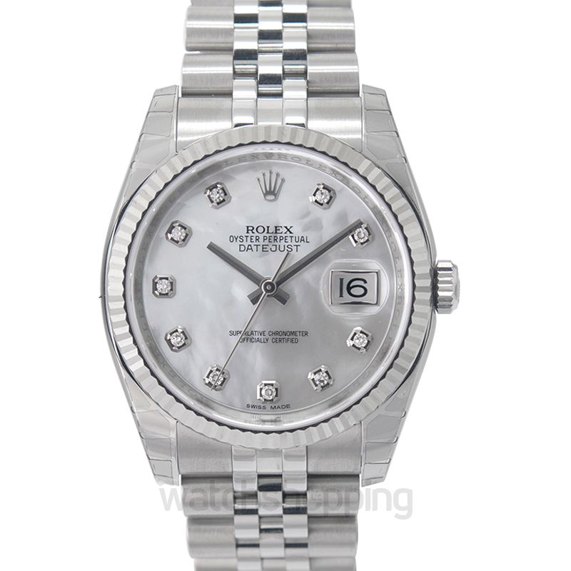 Rolex Datejust 36 Stainless Steel Fluted / Jubilee / MOP