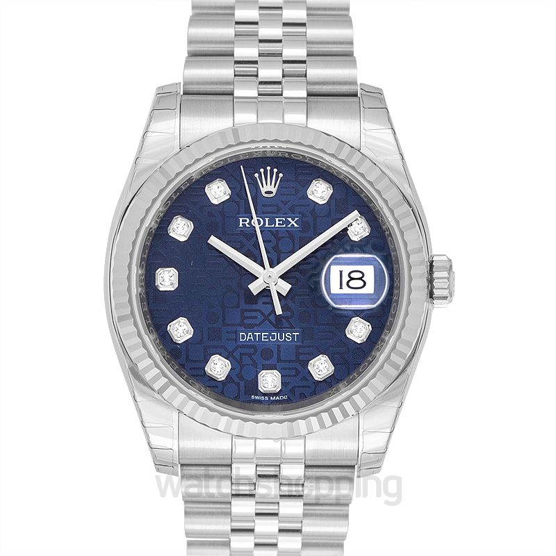 Rolex Datejust 36 Stainless Steel Fluted / Jubilee / Blue Computer