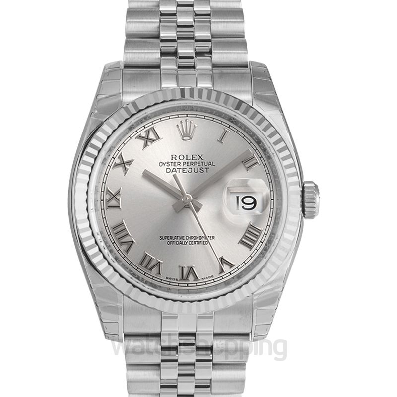 Rolex Datejust 36 Stainless Steel Fluted / Jubilee / Rhodium Roman