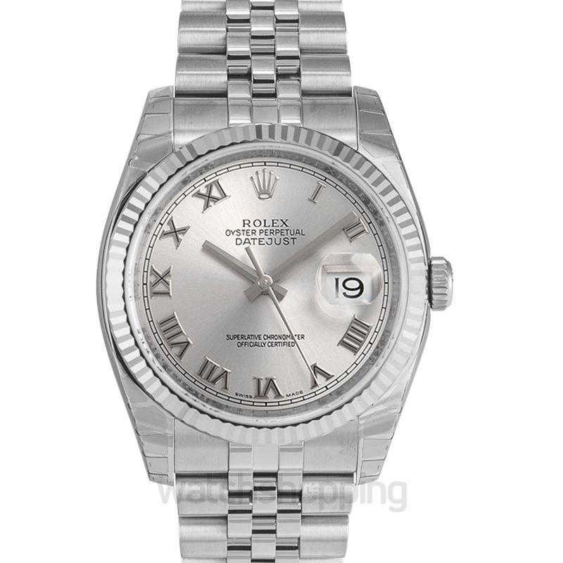 Rolex Datejust 36 Stainless Steel Fluted / Jubilee / Rhodium Roman