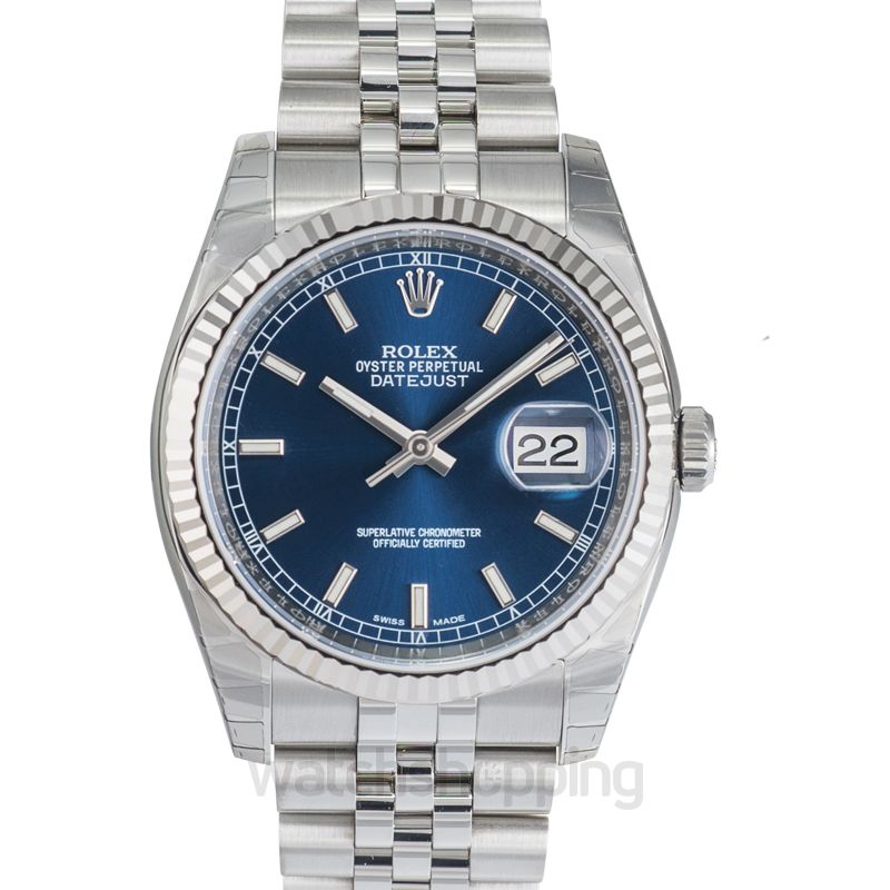 Rolex Datejust 36 Stainless Steel Fluted / Jubilee / Blue