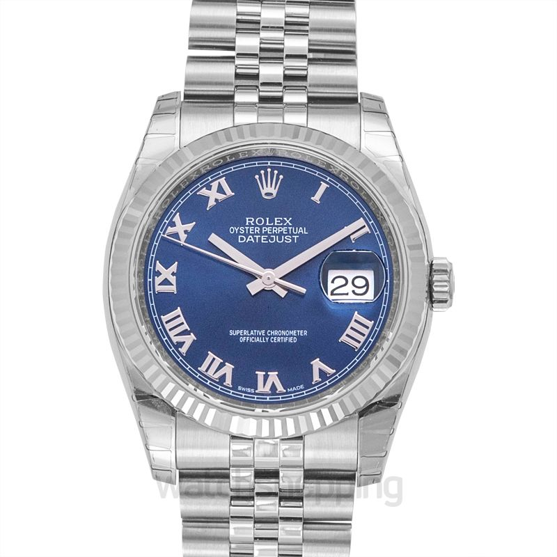 Rolex Datejust 36 Stainless Steel Fluted / Jubilee / Blue Roman