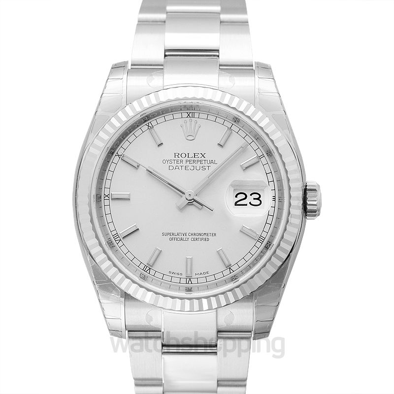 Rolex Datejust 36 Stainless Steel Fluted / Oyster / Silver