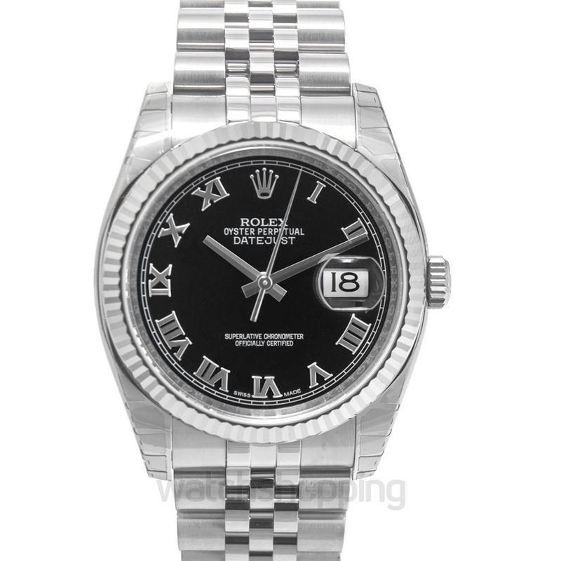 Rolex Rolex Oyster Perpetual 36 mm Black Dial Stainless Steel Jubilee Bracelet Automatic Men's Watch 116234BKRJ