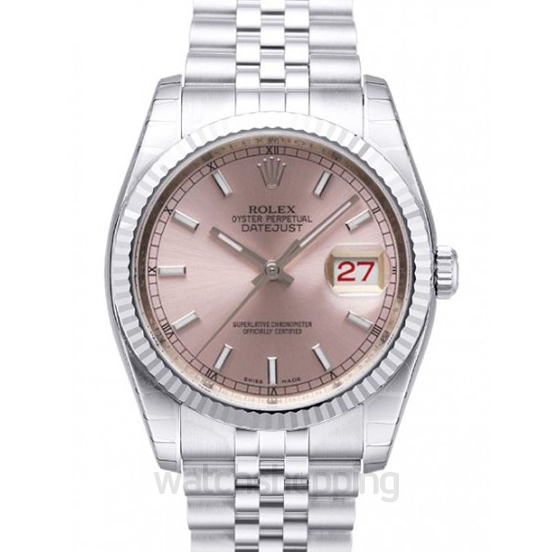 Rolex Datejust 36 Stainless Steel Fluted / Jubilee / Pink