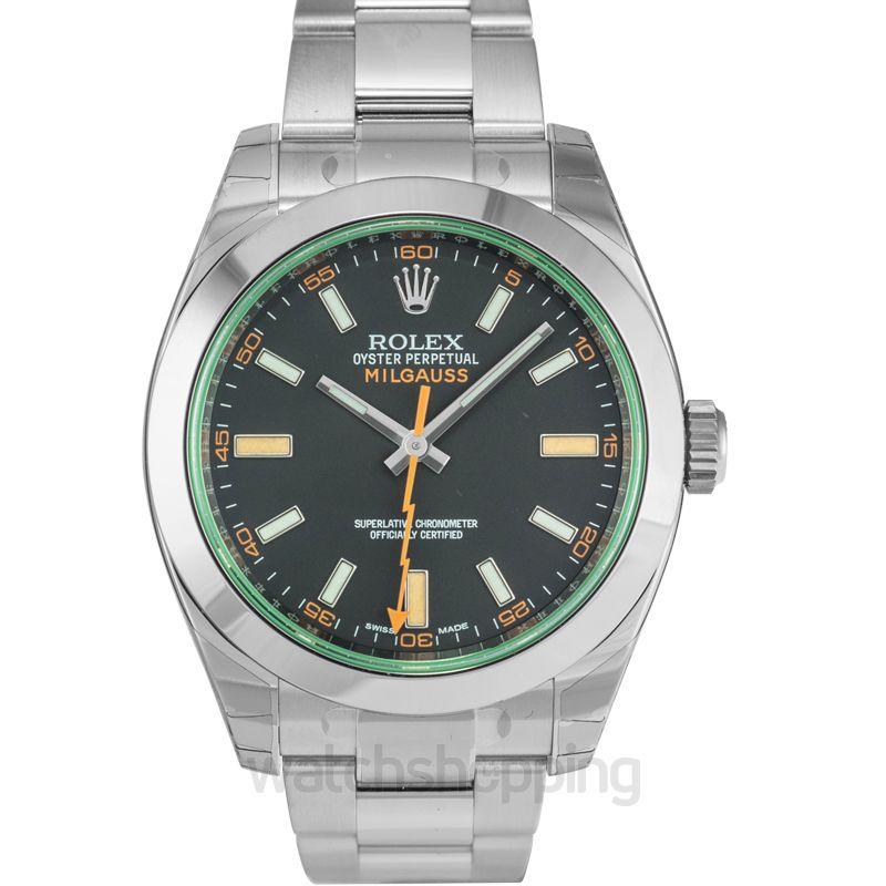 Rolex Milgauss Automatic Black Dial Unisex Watch
