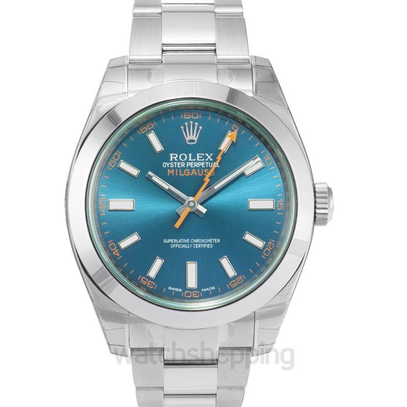 Rolex Milgauss Automatic Blue Dial Men's Watch