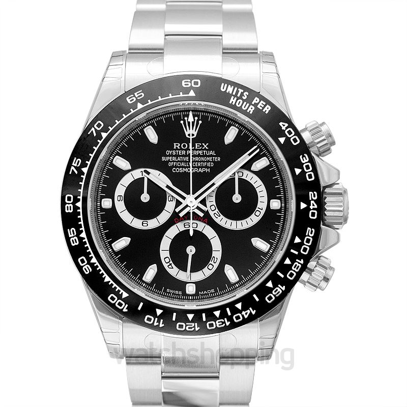 Rolex Cosmograph Daytona Steel Automatic Black Dial Oyster Bracelet Men's Watch