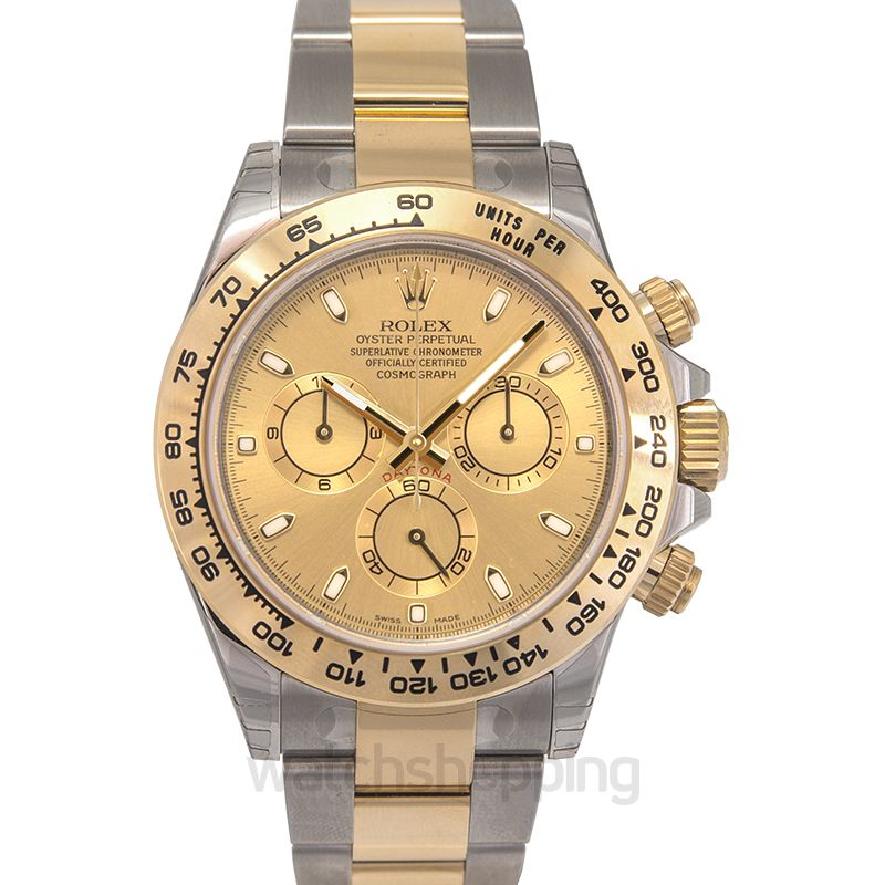 Rolex Cosmograph Daytona Champagne Dial Steel And 18k Yellow Gold Men S Watch 116503 78593