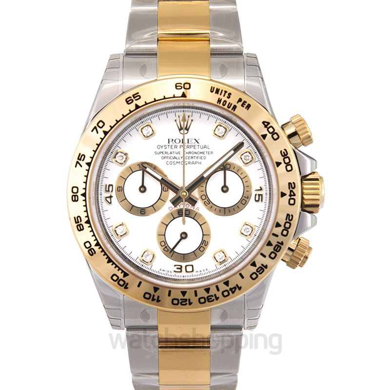 Rolex Cosmograph Daytona 18ct Yellow Gold Automatic White Dial Men's Watch