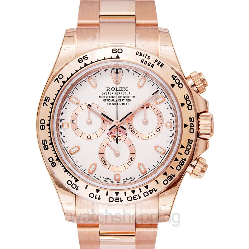 Rolex Cosmograph Daytona 18ct Everose Gold Automatic Ivory Dial Men's Watch