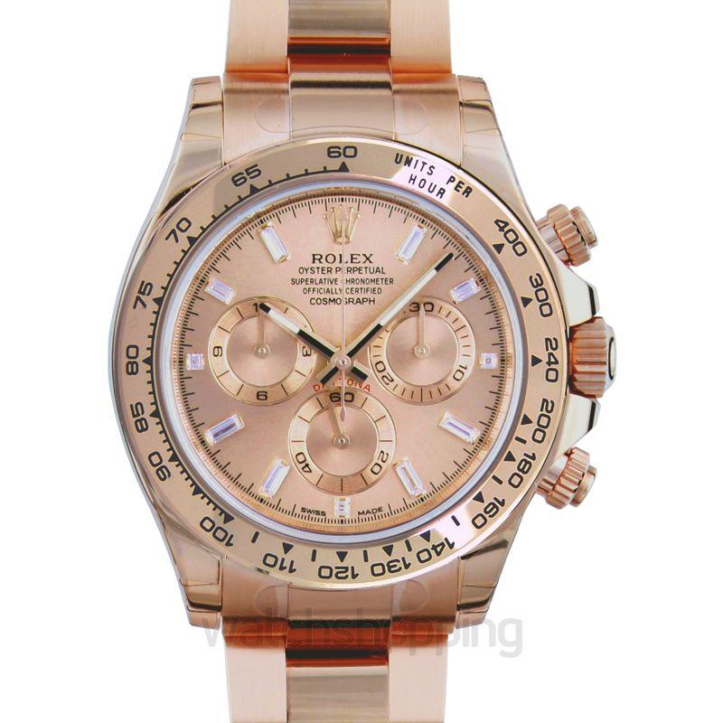 Rolex Rolex Cosmograph Daytona Pink Gold Dial 18K Everose Gold Oyster Bracelet Automatic Men's Watch 116505PKDO