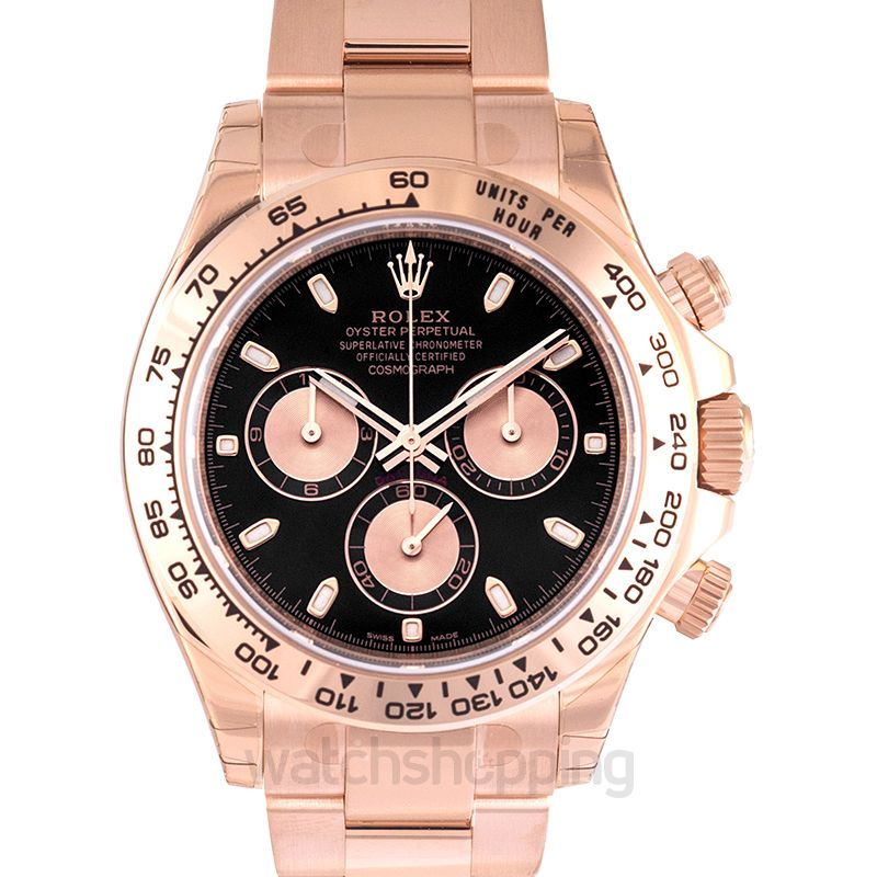 Rolex Cosmograph Daytona Automatic Black Dial Men's Watch