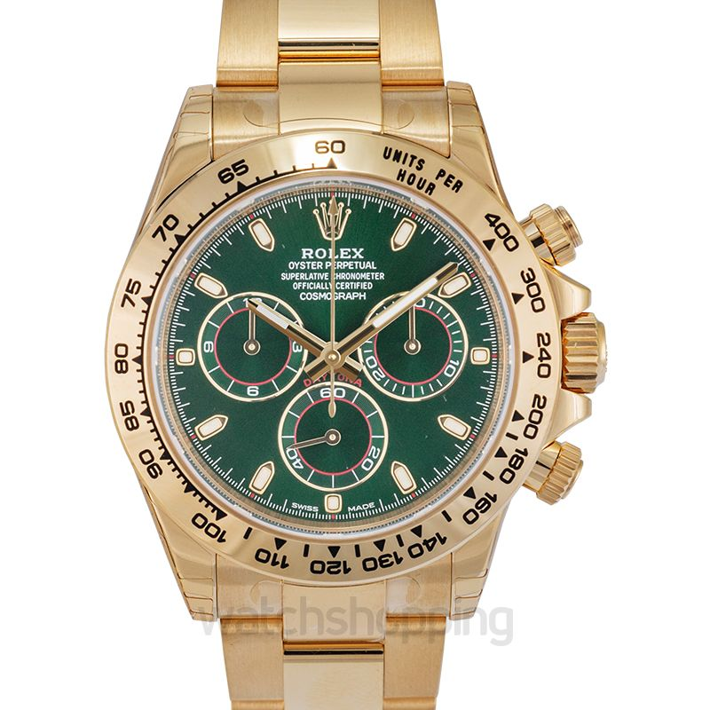 Rolex Rolex Cosmograph Daytona Green Dial 18K Yellow Gold Oyster Men's Watch 116508GRSO