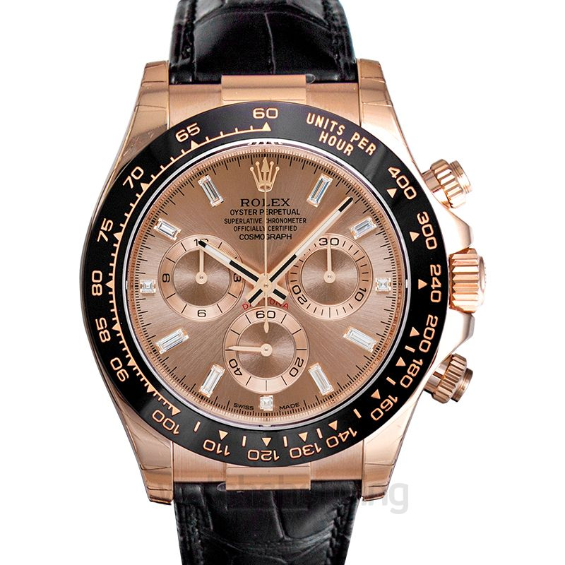 Rolex Daytona Rose Gold/Leather 40mm
