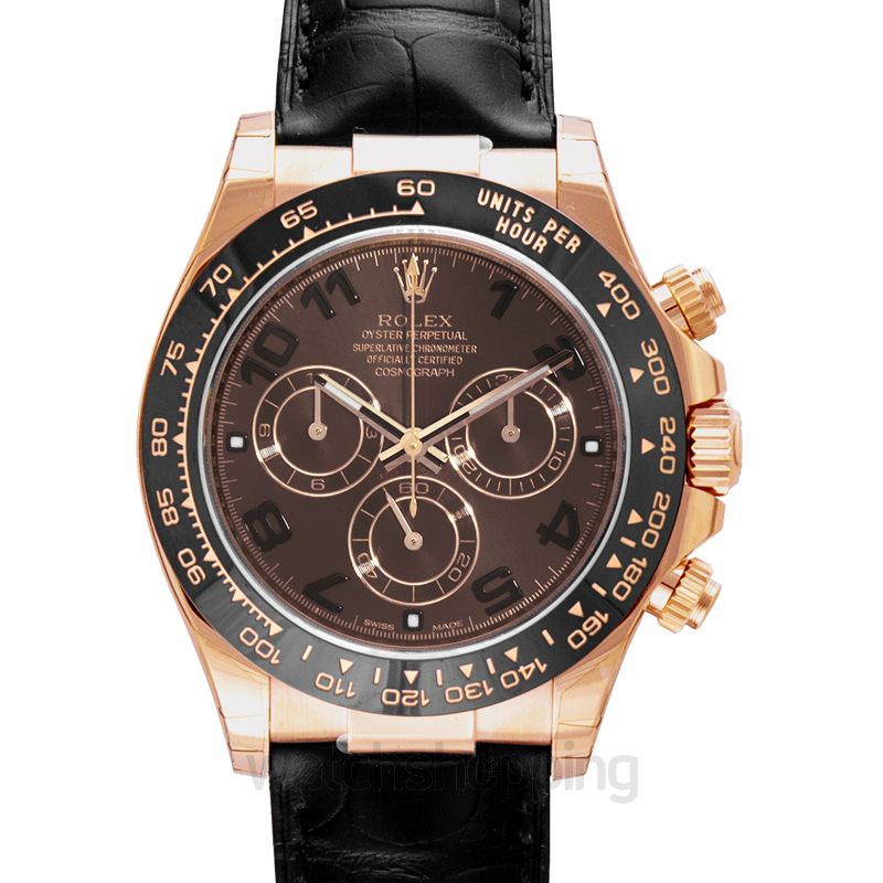 Rolex Daytona Everose / Cerachrom / Chocolate / Strap