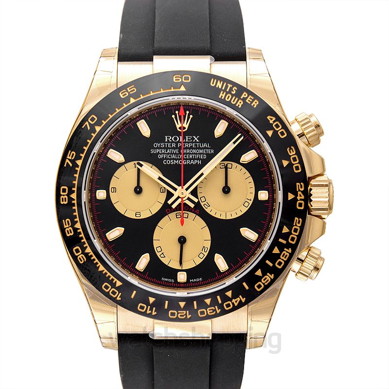 Rolex Cosmograph Daytona 18ct Yellow Gold Automatic Black Dial Men's Watch