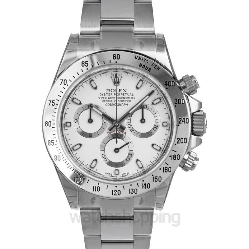 Rolex Cosmograph Daytona Steel Automatic White Dial Men's Watch