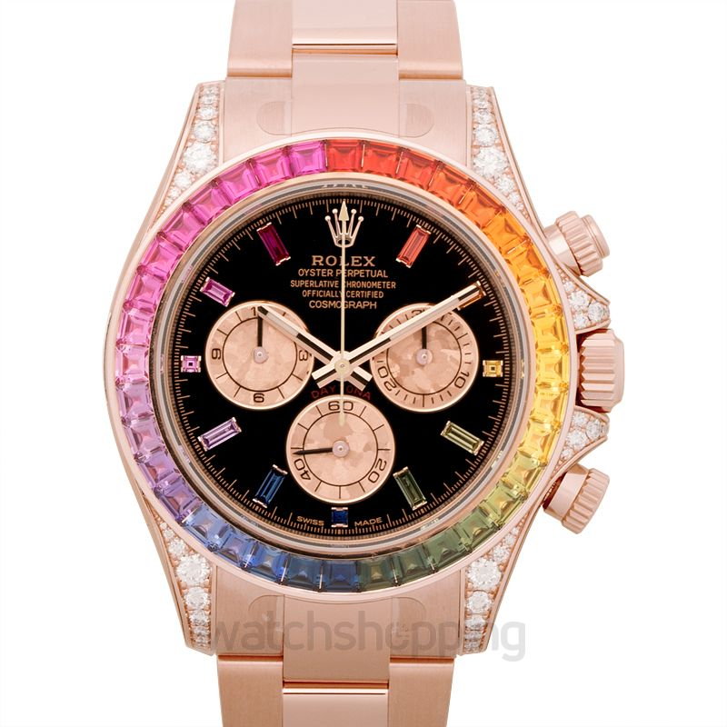 New Cosmograph Daytona Rainbow 18k Rose Gold O40mm 116595 Rbow