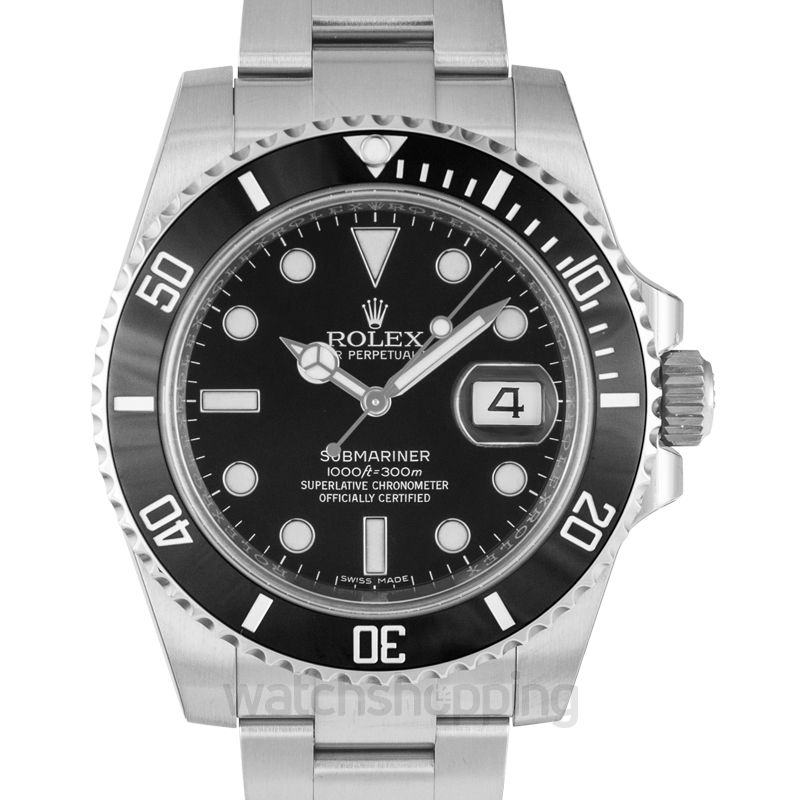 Rolex Submariner Steel Automatic Black Dial Men's Watch