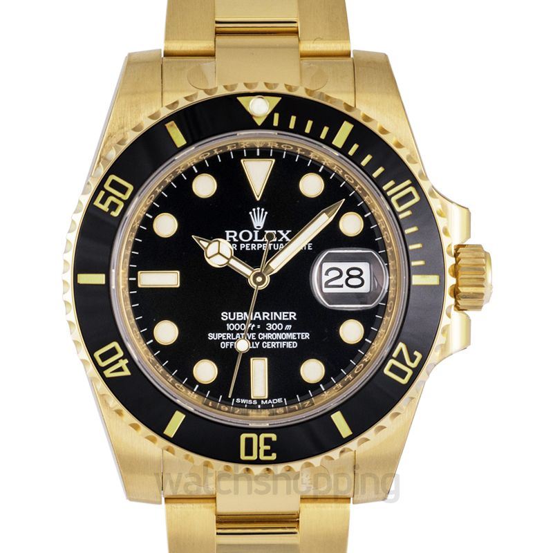 Rolex Submariner Date Yellow Gold / Black / Cerachrom
