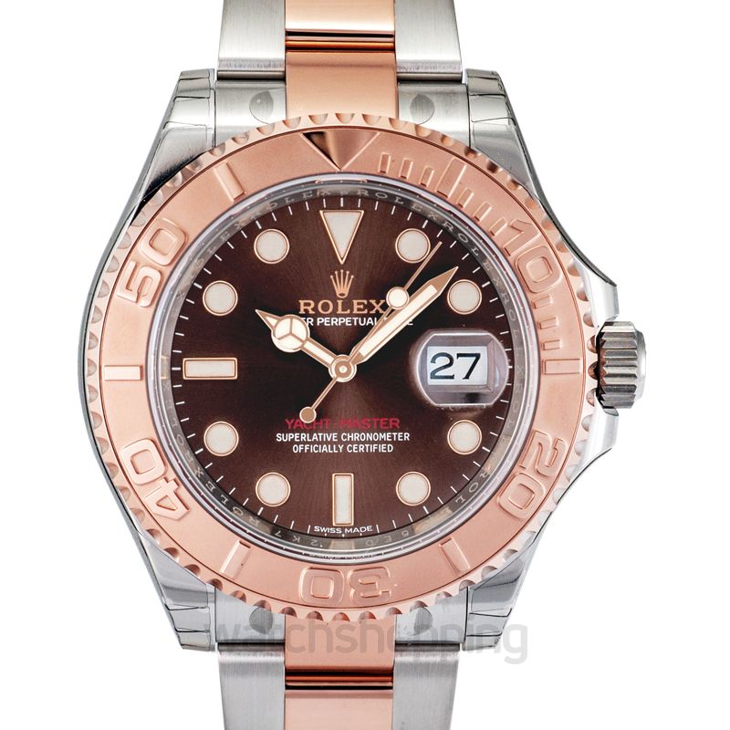 Rolex Rolex Yacht-Master Chocolate Dial Steel and 18K Everose Gold Oyster Men's Watch 116621CHSO