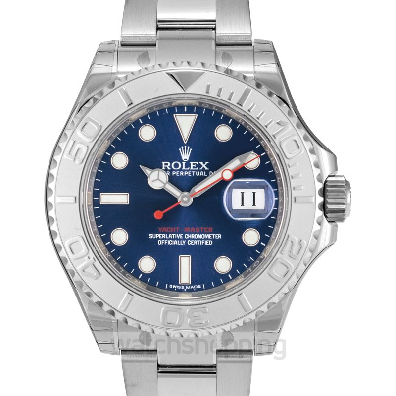 Rolex Rolex Yacht-Master 40 Automatic Blue Dial Stainless Steel Oyster Bracelet Men's Watch 116622BLSO
