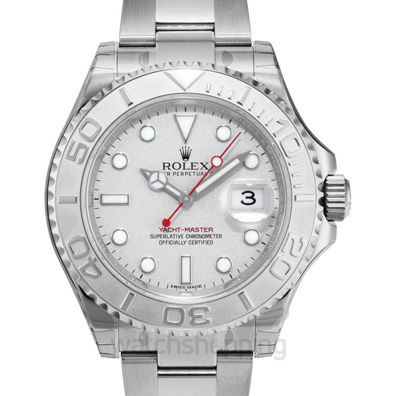 Yacht Master 40 Platinum Dial Stainless Steel Oyster Bracelet Automatic Men S Watch