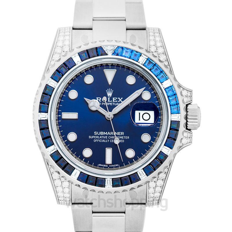 Rolex Submariner Blue Dial Men's Watch