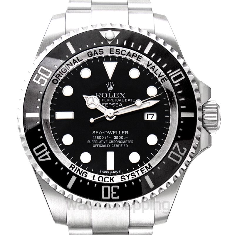 Rolex Deepsea Sea-Dweller Stainless Steel Automatic Black Dial Oyster Bracelet Men's Watch
