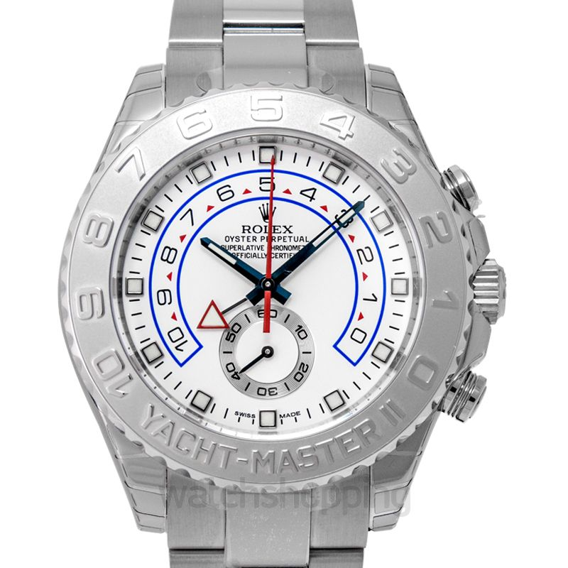 Rolex Rolex Yacht-Master II White Dial 18K White Gold Oyster Bracelet Automatic Men's Watch 116689WAO