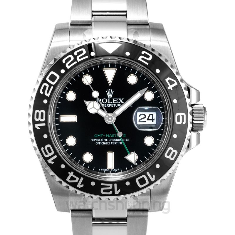 Rolex GMT Master II Steel Automatic Black Dial Men's Watch