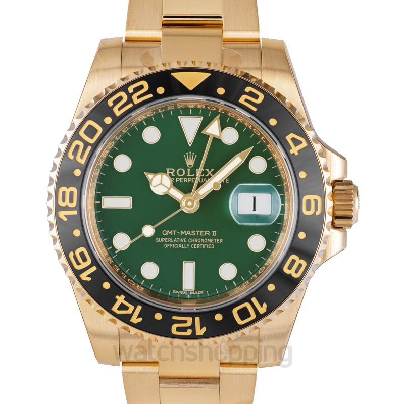 Rolex GMT Master II Automatic Green Dial Men's Watch
