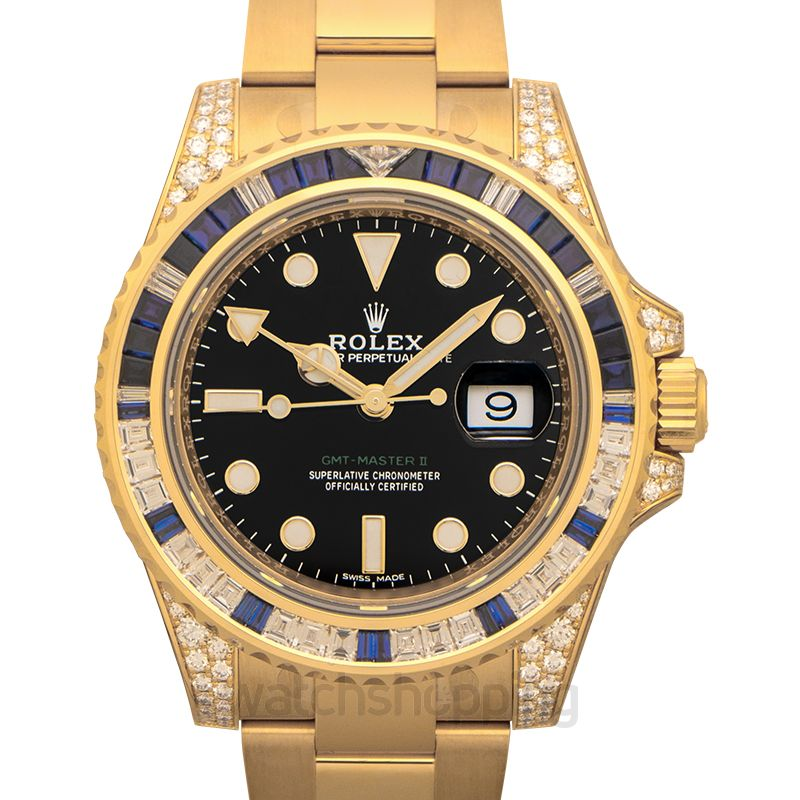 Rolex Rolex GMT Master II 40mm Yellow Gold 116758 Mens Watch