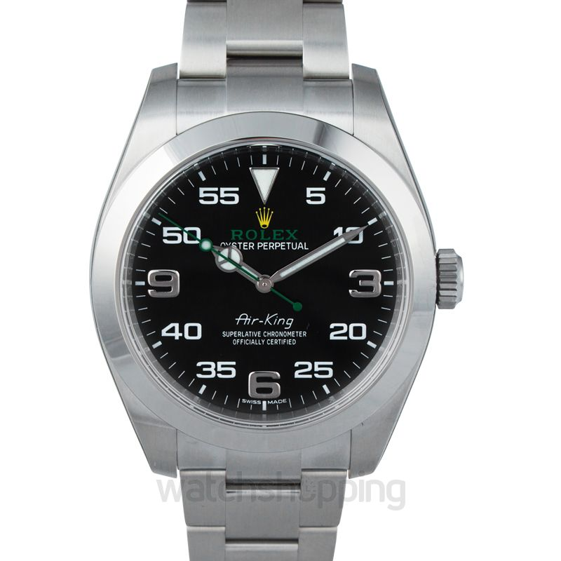 Rolex Air King Automatic Black Dial Men's Watch