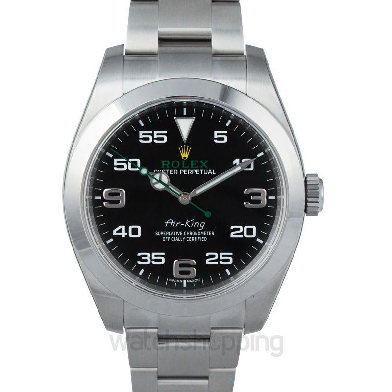 Rolex Rolex Air King Black Dial Stainless Steel Men's Watch 116900BKAO