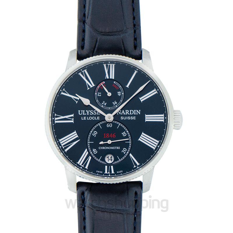 Ulysse Nardin Marine Chronometer Torpilleur Stainless Steel Automatic Blue Dial Men's Watch