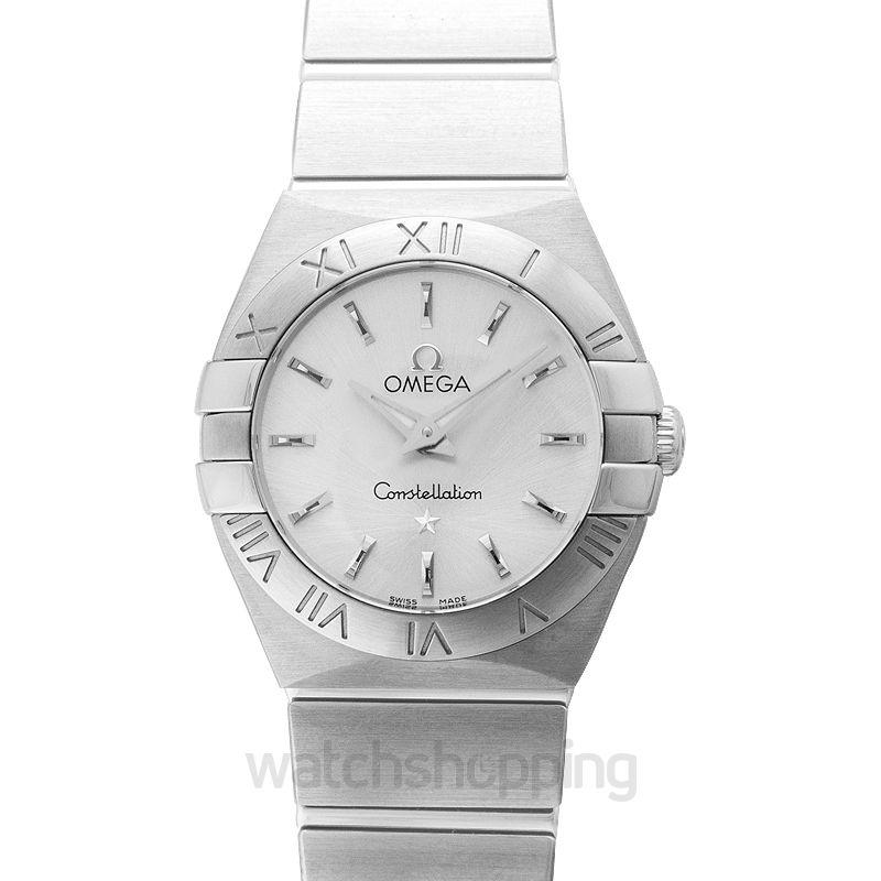 Omega Constellation Quartz 24mm Silver Dial Steel Ladies Watch