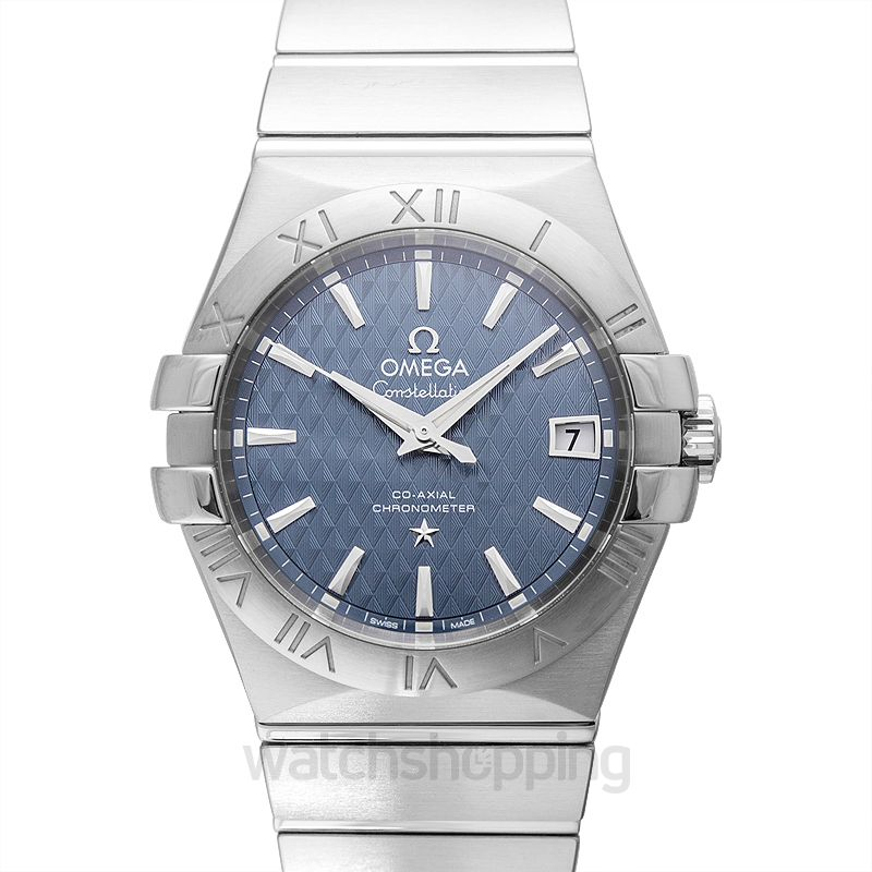 Omega Constellation Co‑Axial 35mm Automatic Blue Dial Steel Unisex Watch