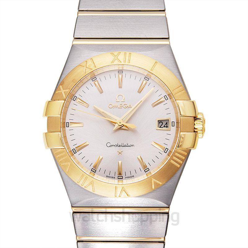 Omega Constellation Quartz 35mm Quartz Silver Dial Yellow Gold Ladies Watch