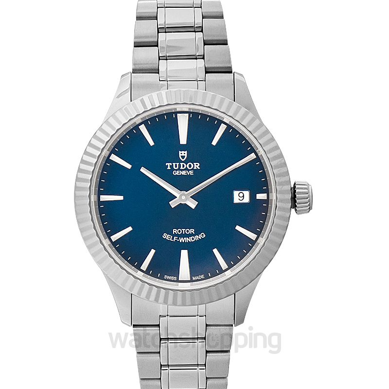 Tudor Style Stainless Steel Automatic Blue Dial Men's Watch
