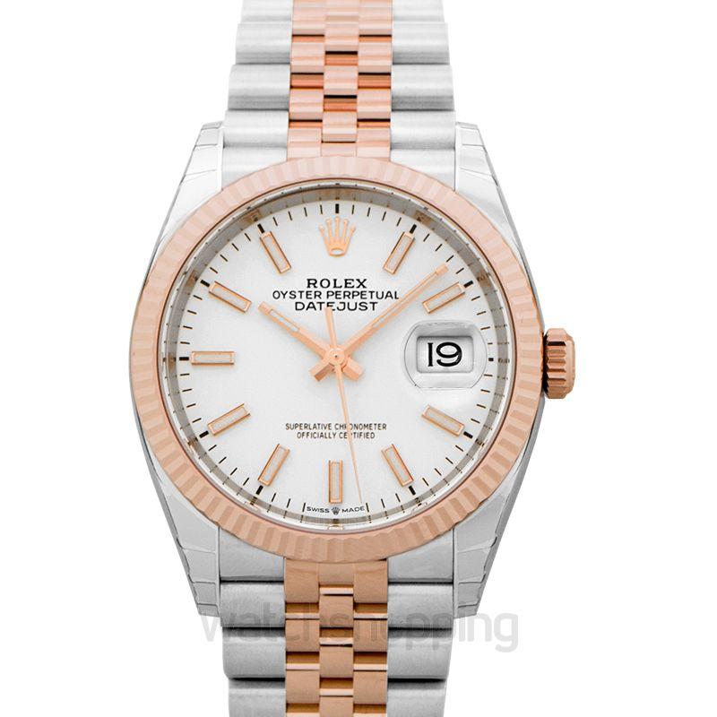 Rolex Datejust Automatic White Dial Men's Watch