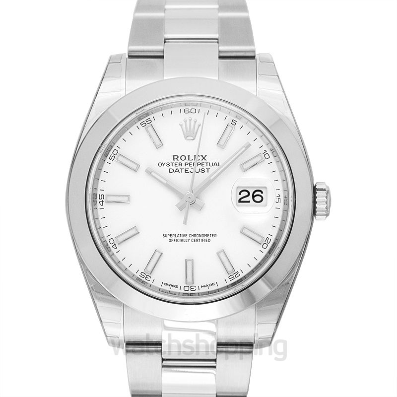 Rolex Datejust 41 Stainless Steel Smooth / Oyster / White