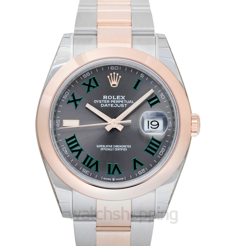 Rolex Rolex Datejust Grey Roman Steel and Gold Everose Oyster 41MM