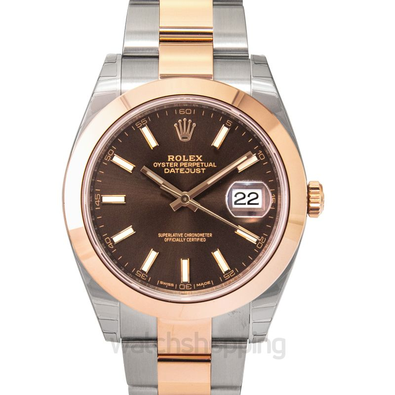 Rolex Rolex Datejust 41 Chocolate Brown Dial Steel and 18K Rose Gold Men's Watch 126301CHSO