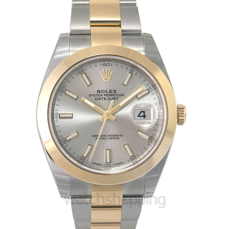 Rolex Rolex Datejust 41 Silver Dial Steel and 18K Yellow Gold Oyster Bracelet Men's Watch 126303SSO